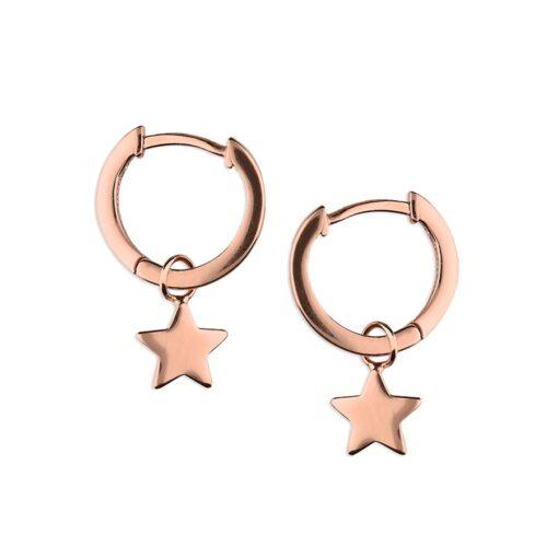 H2901R star on huggie hoop earrings H2901R star on huggie hoop earrings