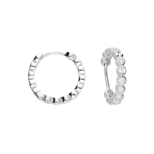 cz mini huggie earrings