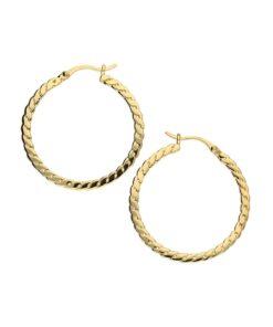 chain linked hoop earrings