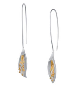 long calla lily earrings