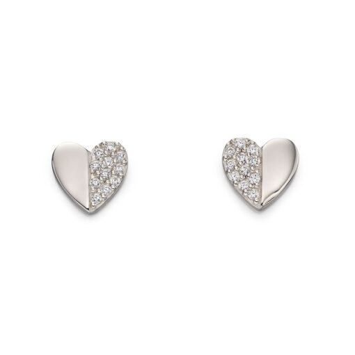 Split Heart Earrings