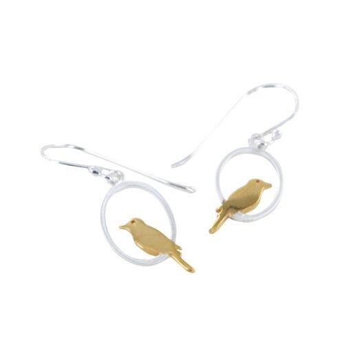 single bird earrings