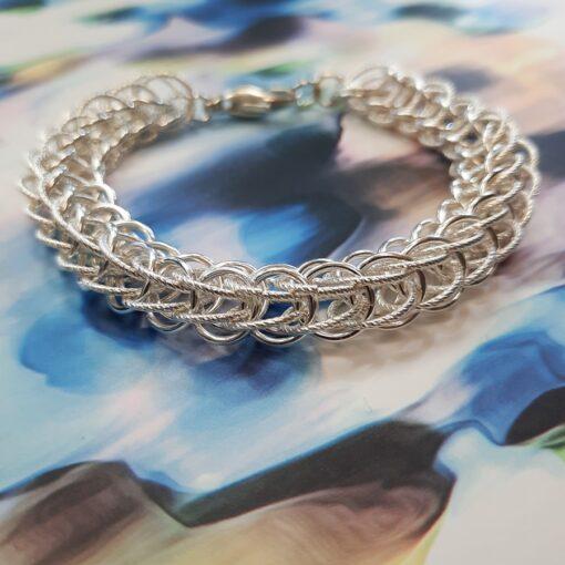 Weave link bracelet