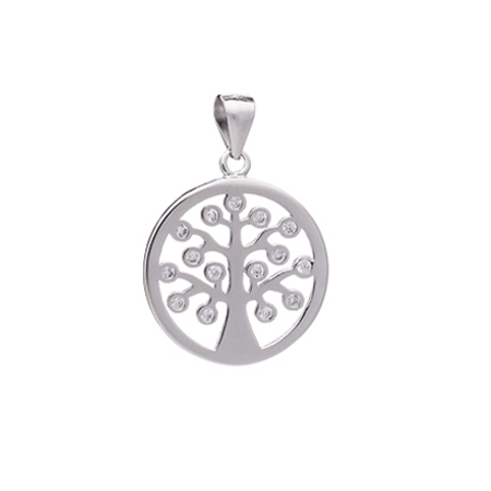 Cut Out Tree of Life CZ Pendant Cut Out Tree of Life CZ Pendant