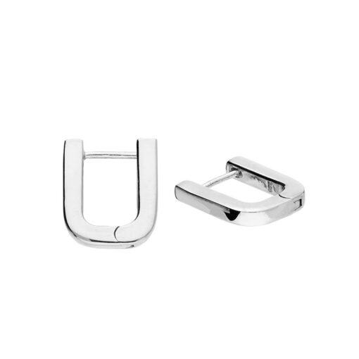 H4501S u Shaped hoop earrings H4501S u Shaped hoop earrings