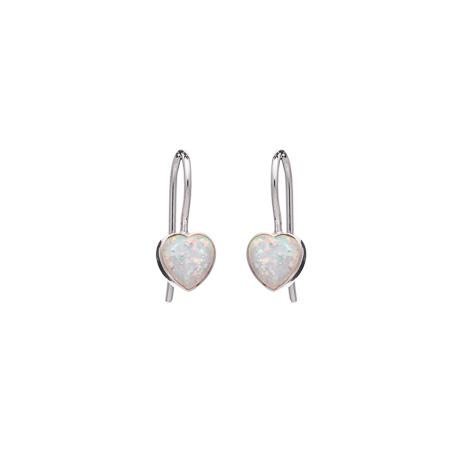Opalique Heart Earrings White Opalique Heart Earrings White