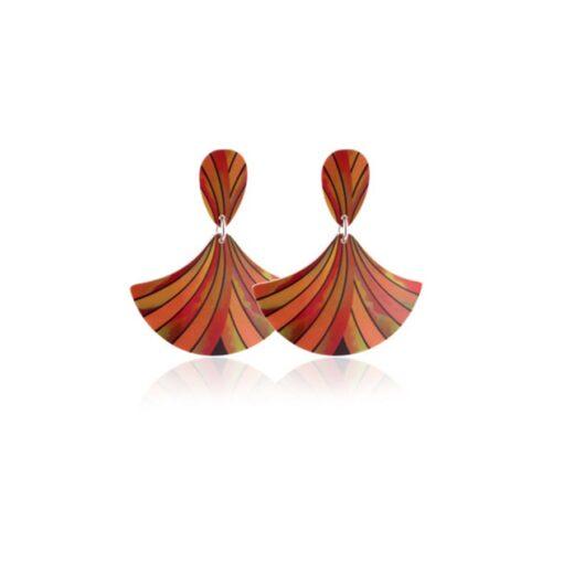 Ribbon Orange Earrings Ribbon Orange Earrings