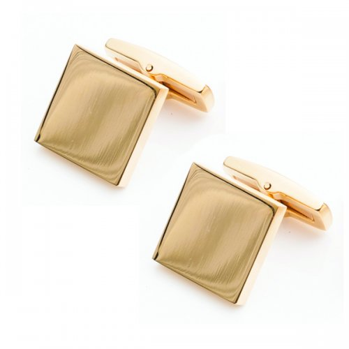 Stainless Steel Polished Square Cufflinks Gold Stainless Steel Polished Square Cufflinks Gold