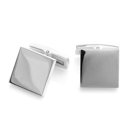 Stainless Steel Polished Square Cufflinks Stainless Steel Polished Square Cufflinks