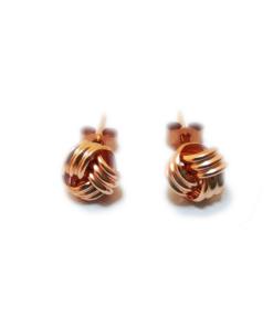 6mm knot stud earrings