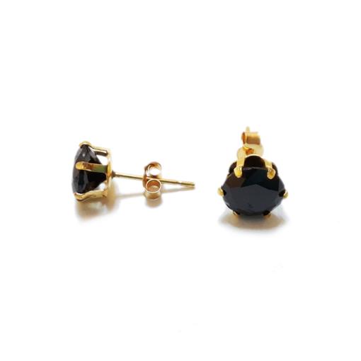 6mm cubic zirconia stud earrings